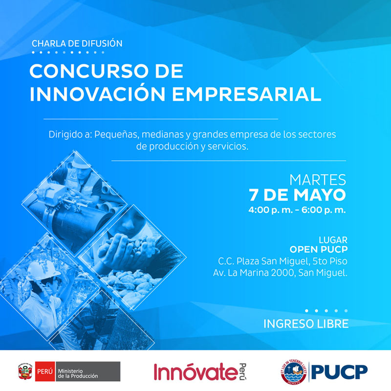CHARLA INNOVACION EMPRESARIAL PUCP TWITTER