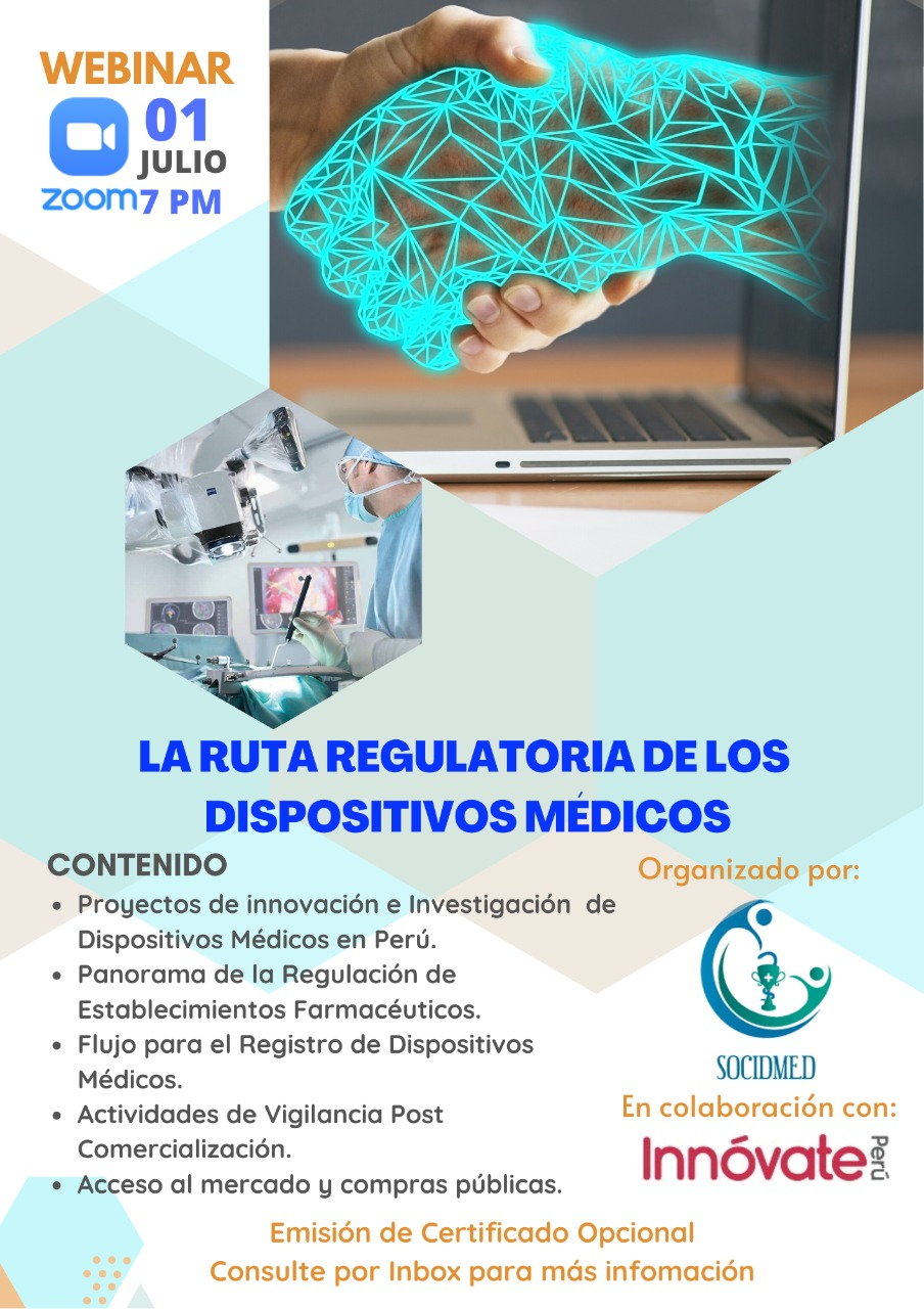 Webinar: La Ruta Regulatoria de Dispositivos Médicos