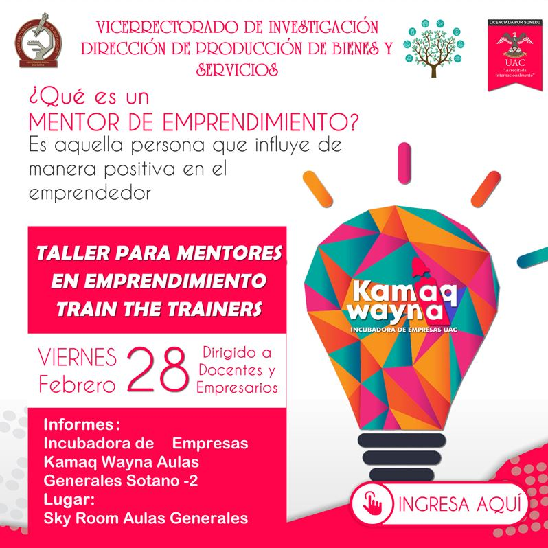Taller para Mentores en Emprendimiento Train The Trainers