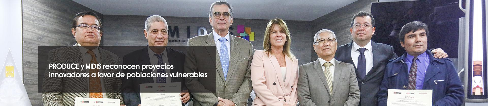 PRODUCE y MIDIS reconocen proyectos innovadores a favor de poblaciones vulnerables