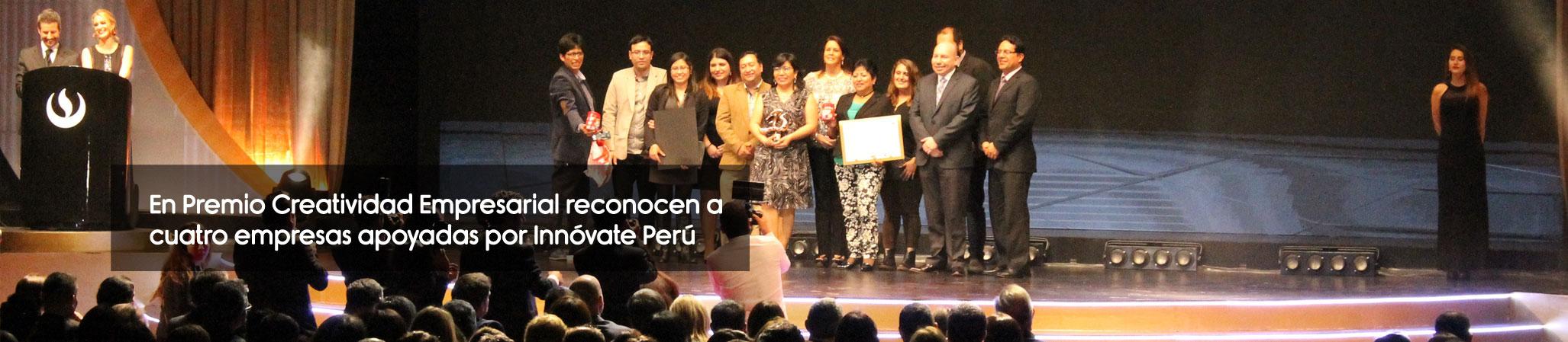 En Premio Creatividad Empresarial reconocen a cuatro empresas apoyadas por Innóvate Perú