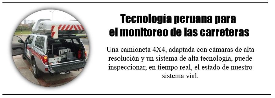 Tecnología peruana para el monitoreo de las carreteras